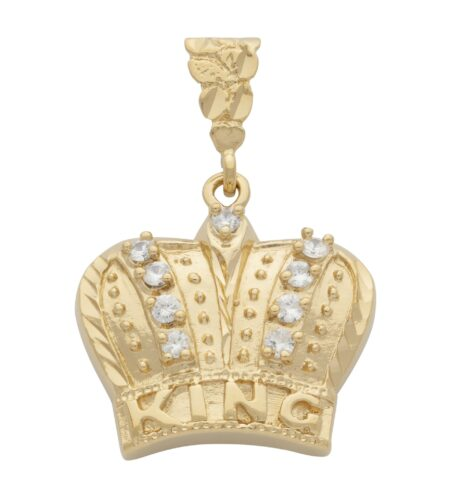 CZ King Crown Pendant