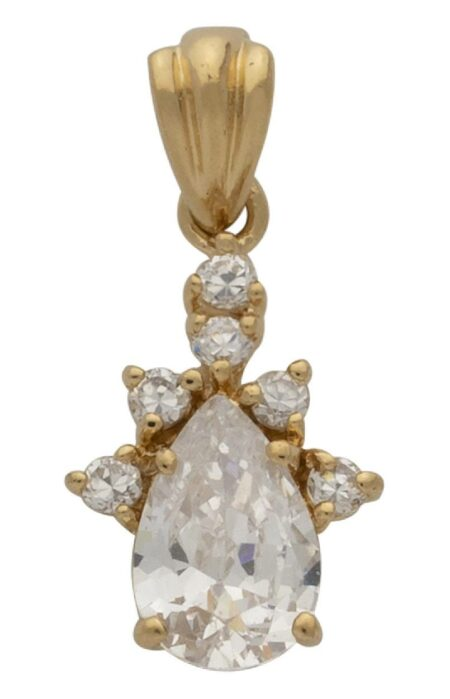 CZ Pear Shaped Pendant